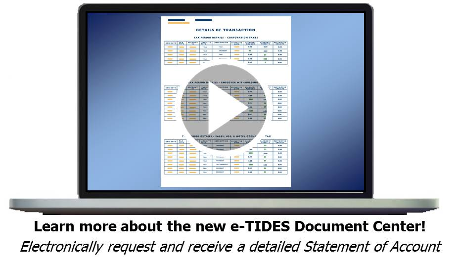 E tides pennsylvania business tax system the exact steps needed to access the new functionality in the e tides document center varies slightly based on your current access ccuart Image collections
